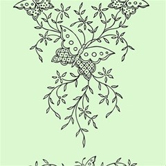 Illustration Of Butterflies And Flowers Ornament On Green Background Magic Photo Cubes