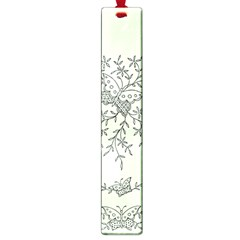 Illustration Of Butterflies And Flowers Ornament On Green Background Large Book Marks