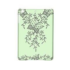 Illustration Of Butterflies And Flowers Ornament On Green Background iPad Mini 2 Hardshell Cases