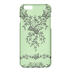 Illustration Of Butterflies And Flowers Ornament On Green Background Apple Iphone 6 Plus/6s Plus Hardshell Case