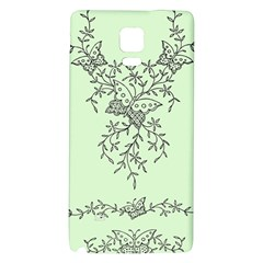 Illustration Of Butterflies And Flowers Ornament On Green Background Galaxy Note 4 Back Case