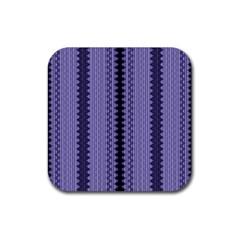 Zig Zag Repeat Pattern Rubber Coaster (Square)