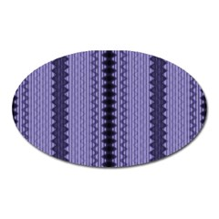 Zig Zag Repeat Pattern Oval Magnet