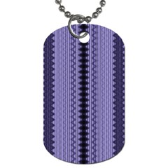 Zig Zag Repeat Pattern Dog Tag (two Sides)