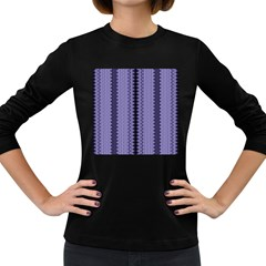 Zig Zag Repeat Pattern Women s Long Sleeve Dark T Shirts