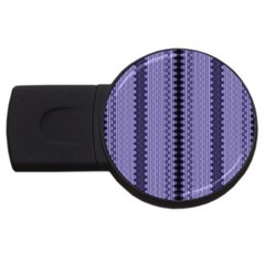 Zig Zag Repeat Pattern USB Flash Drive Round (4 GB)