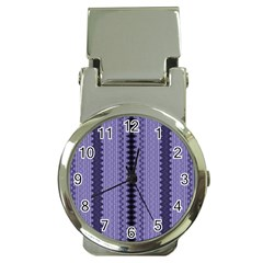Zig Zag Repeat Pattern Money Clip Watches