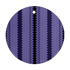 Zig Zag Repeat Pattern Round Ornament (Two Sides)