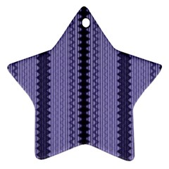 Zig Zag Repeat Pattern Star Ornament (Two Sides)