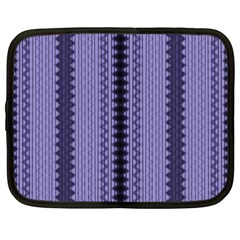 Zig Zag Repeat Pattern Netbook Case (Large)