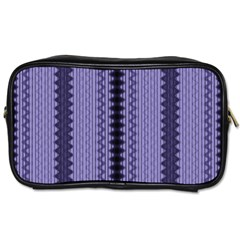 Zig Zag Repeat Pattern Toiletries Bags