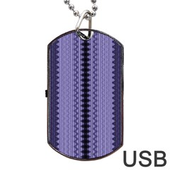 Zig Zag Repeat Pattern Dog Tag USB Flash (Two Sides)