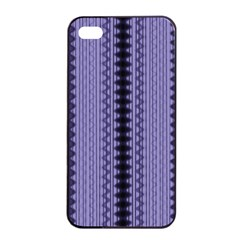 Zig Zag Repeat Pattern Apple Iphone 4/4s Seamless Case (black)