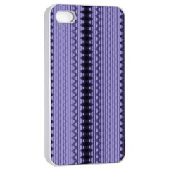 Zig Zag Repeat Pattern Apple iPhone 4/4s Seamless Case (White)