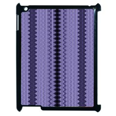 Zig Zag Repeat Pattern Apple Ipad 2 Case (black)