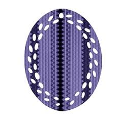 Zig Zag Repeat Pattern Ornament (oval Filigree)