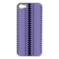 Zig Zag Repeat Pattern Apple Iphone 5 Case (silver)