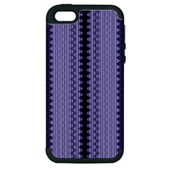 Zig Zag Repeat Pattern Apple Iphone 5 Hardshell Case (pc+silicone)