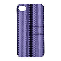 Zig Zag Repeat Pattern Apple Iphone 4/4s Hardshell Case With Stand