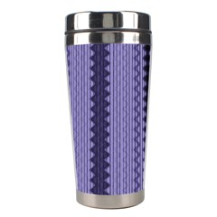 Zig Zag Repeat Pattern Stainless Steel Travel Tumblers