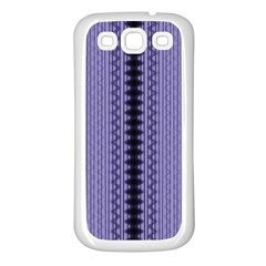 Zig Zag Repeat Pattern Samsung Galaxy S3 Back Case (white)