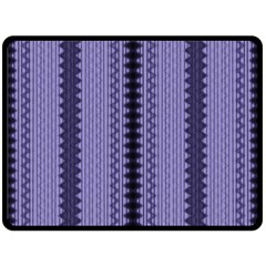 Zig Zag Repeat Pattern Double Sided Fleece Blanket (large)