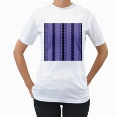 Zig Zag Repeat Pattern Women s T Shirt (white)