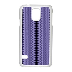 Zig Zag Repeat Pattern Samsung Galaxy S5 Case (White)