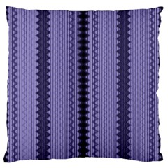 Zig Zag Repeat Pattern Large Flano Cushion Case (one Side)