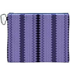 Zig Zag Repeat Pattern Canvas Cosmetic Bag (xxxl)