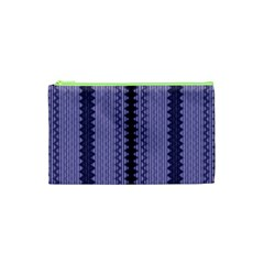 Zig Zag Repeat Pattern Cosmetic Bag (XS)