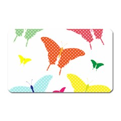 Beautiful Colorful Polka Dot Butterflies Clipart Magnet (rectangular)