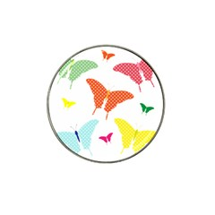 Beautiful Colorful Polka Dot Butterflies Clipart Hat Clip Ball Marker (4 pack)