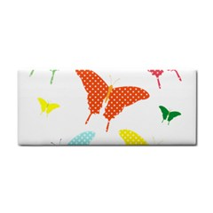 Beautiful Colorful Polka Dot Butterflies Clipart Cosmetic Storage Cases