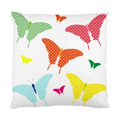 Beautiful Colorful Polka Dot Butterflies Clipart Standard Cushion Case (One Side)