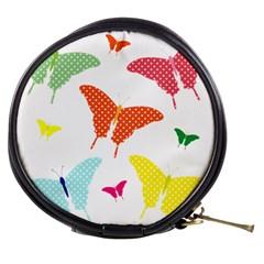 Beautiful Colorful Polka Dot Butterflies Clipart Mini Makeup Bags