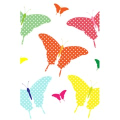 Beautiful Colorful Polka Dot Butterflies Clipart 5 5  X 8 5  Notebooks
