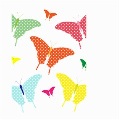 Beautiful Colorful Polka Dot Butterflies Clipart Small Garden Flag (Two Sides)