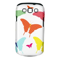 Beautiful Colorful Polka Dot Butterflies Clipart Samsung Galaxy S Iii Classic Hardshell Case (pc+silicone)