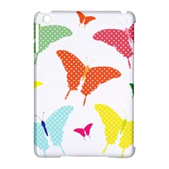 Beautiful Colorful Polka Dot Butterflies Clipart Apple iPad Mini Hardshell Case (Compatible with Smart Cover)