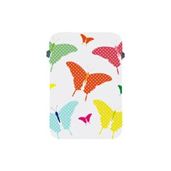 Beautiful Colorful Polka Dot Butterflies Clipart Apple Ipad Mini Protective Soft Cases