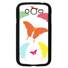 Beautiful Colorful Polka Dot Butterflies Clipart Samsung Galaxy Grand DUOS I9082 Case (Black)