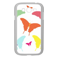 Beautiful Colorful Polka Dot Butterflies Clipart Samsung Galaxy Grand Duos I9082 Case (white)