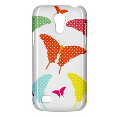 Beautiful Colorful Polka Dot Butterflies Clipart Galaxy S4 Mini