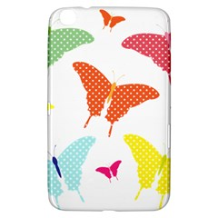 Beautiful Colorful Polka Dot Butterflies Clipart Samsung Galaxy Tab 3 (8 ) T3100 Hardshell Case