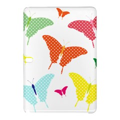 Beautiful Colorful Polka Dot Butterflies Clipart Samsung Galaxy Tab Pro 10.1 Hardshell Case