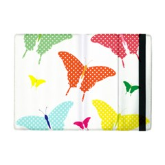 Beautiful Colorful Polka Dot Butterflies Clipart Ipad Mini 2 Flip Cases