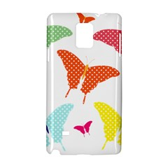 Beautiful Colorful Polka Dot Butterflies Clipart Samsung Galaxy Note 4 Hardshell Case