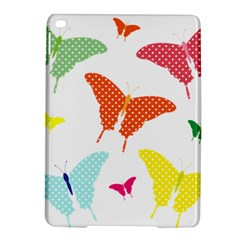 Beautiful Colorful Polka Dot Butterflies Clipart iPad Air 2 Hardshell Cases