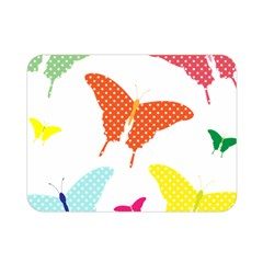 Beautiful Colorful Polka Dot Butterflies Clipart Double Sided Flano Blanket (Mini)